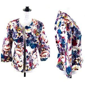 Coldwater Creek Floral Spring Jacket Size 12